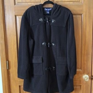 Susan Graver Black Fleece Toggle Front Jacket XL